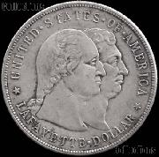 Lafayette Dollar Silver Commemorative Coin (1900) in XF+ Condition