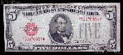 Five Dollar Bill Red Seal Series 1928 US Currency