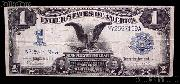 "One Dollar Bill Silver Certificate ""Black Eagle"" Large Size Series 1899 US Currency"