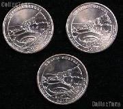 2012 P, D, & S New Mexico Chaco Culture National Park Quarters GEM BU America the Beautiful