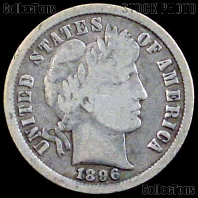1896-O Barber Dime G-4 or Better Liberty Head Dime