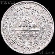 Norfolk Virginia Bicentennial Silver Commemorative Half Dollar (1936) in XF+ Condition