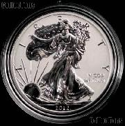 2012-S American Silver Eagle REVERSE PROOF Coin from US Mint Set in Capsule