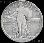 1920-S Standing Liberty Silver Quarter Circulated Coin G 4 or Better