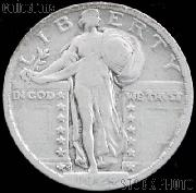 1924-S Standing Liberty Silver Quarter Circulated Coin G 4 or Better