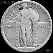 1917 Standing Liberty Silver Quarter Variety 2 Circulated Coin G 4 or Better