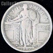 1917 Standing Liberty Silver Quarter Variety 1 Circulated Coin G 4 or Better