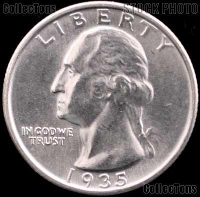 1935-D Washington Silver Quarter Gem BU (Brilliant Uncirculated)