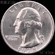 1938 Washington Silver Quarter Gem BU (Brilliant Uncirculated)