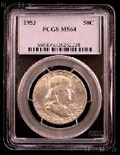 1953 Franklin Silver Half Dollar in PCGS MS 64