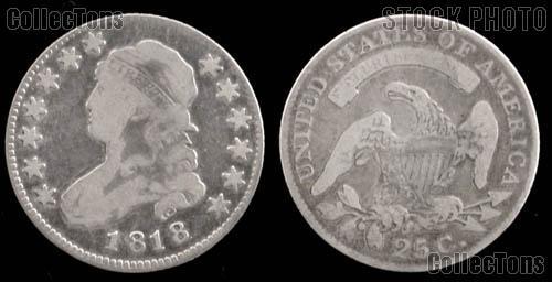 Capped Bust Quarter Large Diameter 1815-1828