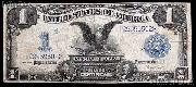 "One Dollar Bill Silver Certificate ""Black Eagle"" Large Size Series 1899 US Currency Good or Better"
