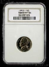 1955 Jefferson Nickel PROOF in NGC PF 66 CAMEO