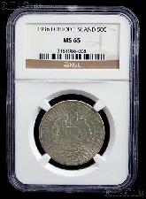1936-D Providence Rhode Island Tercentenary Silver Commemorative Half Dollar in NGC MS 65