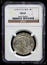 1924 Huguenot Walloon Tercentenary Silver Commemorative Half Dollar in NGC MS 65