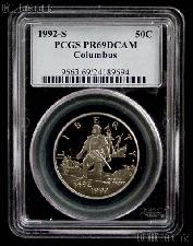 1992-S Christopher Columbus Quincentenary Commemorative PROOF Half Dollar in PCGS PR 69 DCAM