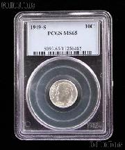 1949-S Roosevelt Silver Dime in PCGS MS 65