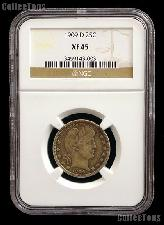 1909-D Barber Silver Quarter in NGC XF 45