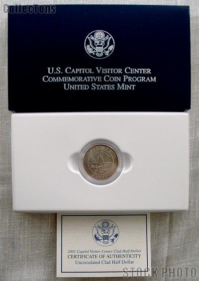 2001-P Capitol Visitor Center Commemorative Uncirculated Half Dollar