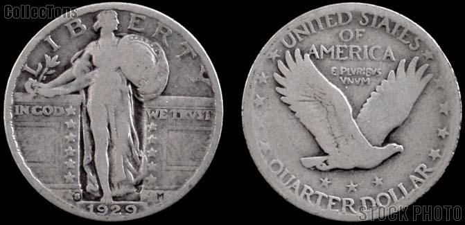 Standing Liberty Quarters 1917-1930 Variety 2 *5 Different Coins