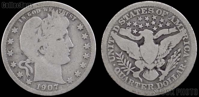 Barber Quarters 1892-1916 *5 Different Coins