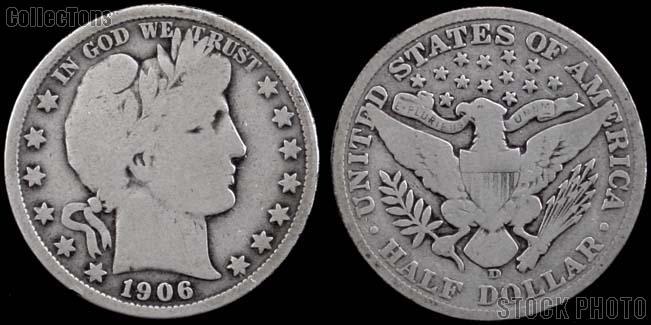 Barber Half Dollars 1892-1915 *5 Different Coins