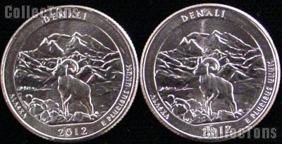 2012 P & D Alaska Denali National Park Quarters GEM BU America the Beautiful