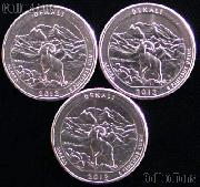 2012 P, D, & S Alaska Denali National Park Quarters GEM BU America the Beautiful