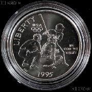 1995-S BU Atlanta Olympiad Baseball Commemorative Half Dollars