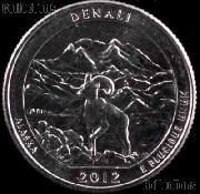 2012-P Alaska Denali National Park Quarter GEM BU America the Beautiful