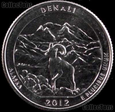 2012-D Alaska Denali National Park Quarter GEM BU America the Beautiful