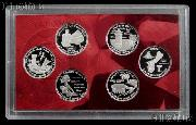 2009 DC & Territory SILVER Quarter Proof Set - 6 Coins