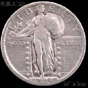 1924-D Standing Liberty Silver Quarter Circulated Coin G 4 or Better