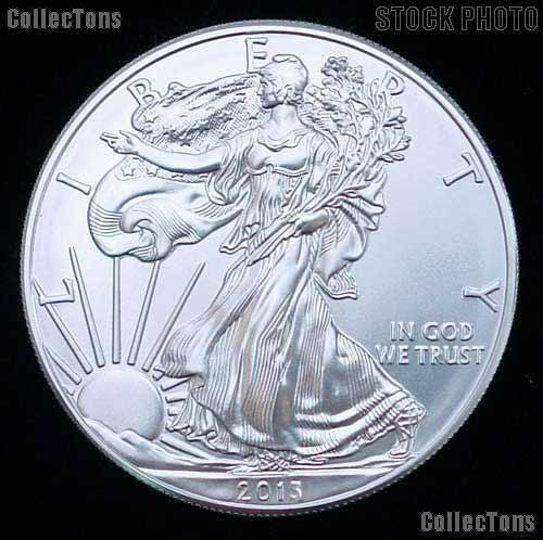 2013 American Silver Eagle Dollar Roll BU Original Roll