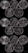 2012 National Park Quarters Complete Set P & D & S Uncirculated (15 Coins) PR, NM, ME, HI, AK