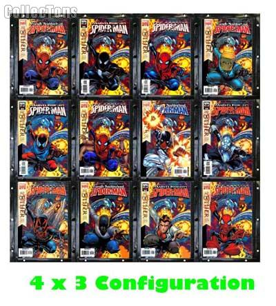 comic book frames 12 pack by bcw snap it modular display system