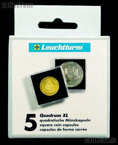 Coin Holder 43mm by Lighthouse (QUADRUM XL 43) 5 Pack of 43mm 2.5x2.5 Plastic Coin Holders