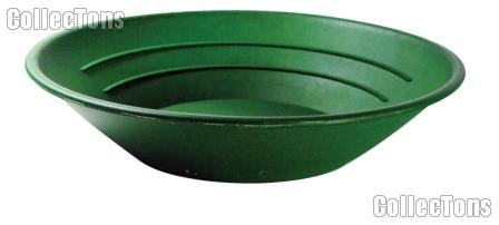 """Gold Pan 10"""" Gold Panning Equipment for Prospecting, Green"""