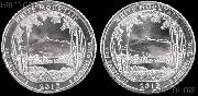 2013 P & D New Hampshire White Mountain National Park Quarters GEM BU America the Beautiful