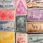 25 Different 3 Cent Stamps from the 1950s - Unused Commemorative Stamp Collection