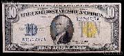Ten Dollar Bill North Africa Note Yellow Seal US Currency