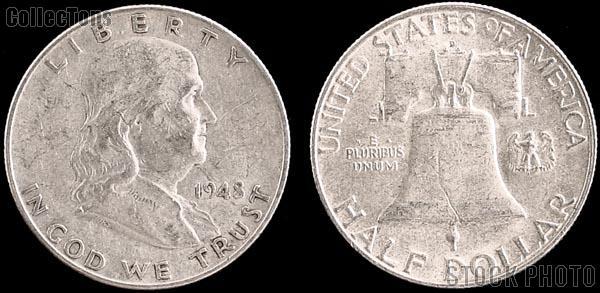 Franklin Silver Half Dollar (1948-1963) One Coin G+ Condition