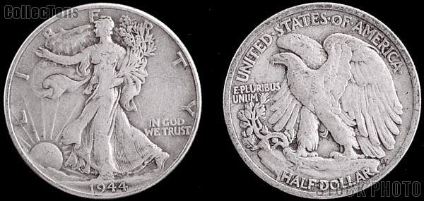 Walking Liberty  Silver Half Dollars 5 Different Coin Lot G+ Condition