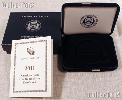 2011-W American Silver Eagle Dollar Proof OGP Replacement Box and COA