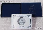 1982 George Washington 250th Anniversary Commemorative Uncirculated Silver Half Dollar OGP Replacement Box and COA