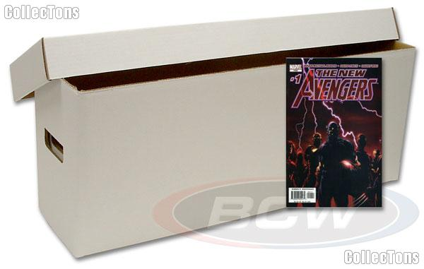 Comic Book Storage Boxes LONG Cardboard BUNDLE of 10 by BCW Comic Storage Containers