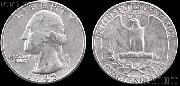 Washington Silver Quarter (1932-1964) One Coin G+ Condition