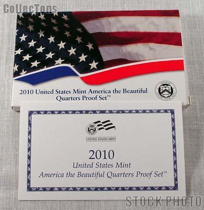2010 U.S. Mint QUARTER Proof Set OGP Replacement Box and COA