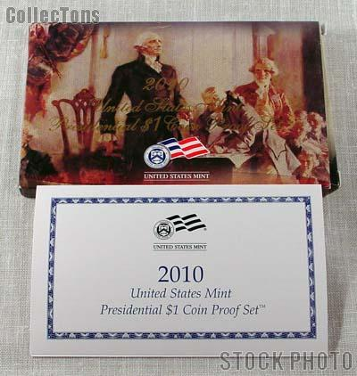 2010 U.S. Mint PRESIDENTIAL DOLLAR Proof Set OGP Replacement Box and COA