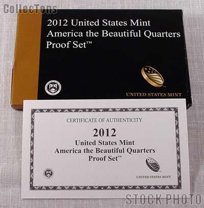 2012 U.S. Mint QUARTER Proof Set OGP Replacement Box and COA
